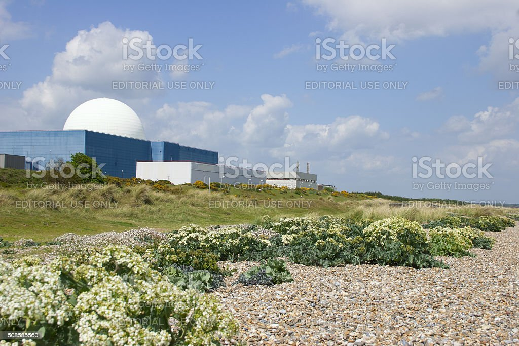 Sizewell B nuclear power station on Suffolk coast stock photo