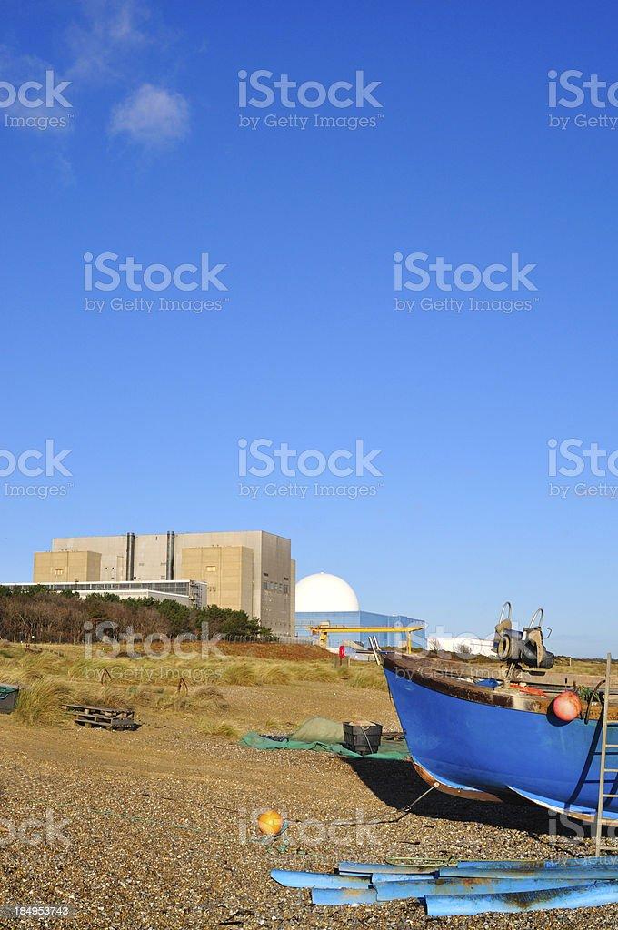 Sizewell boat stock photo