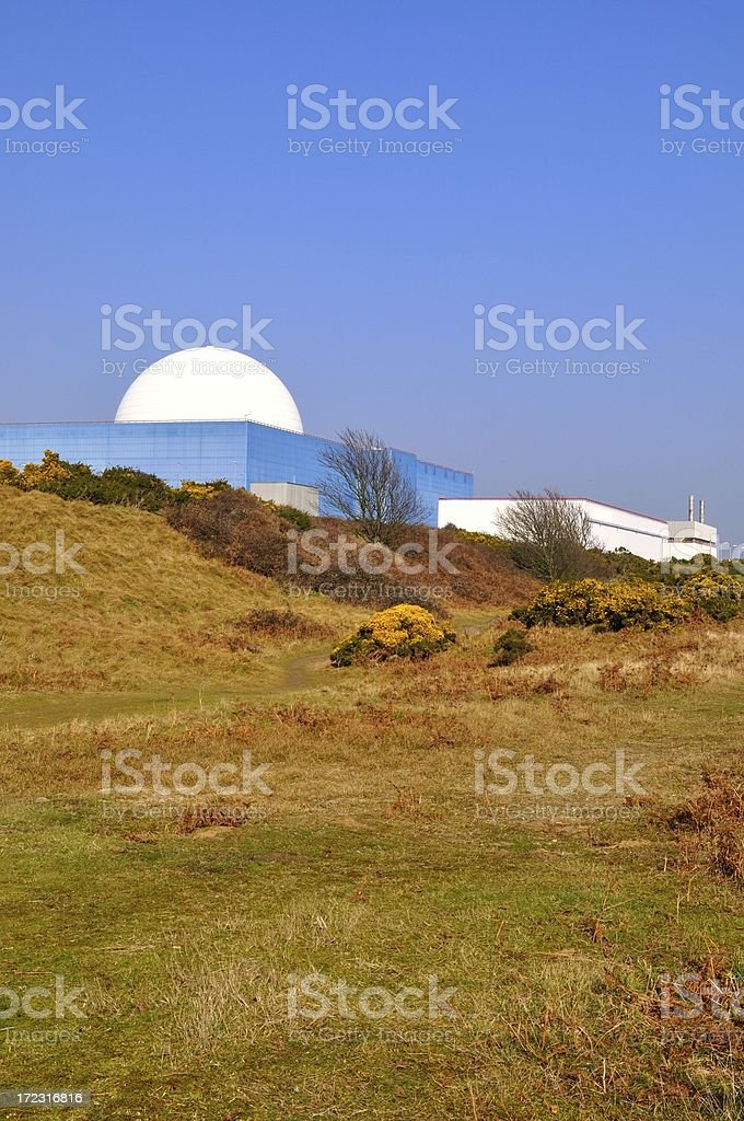 Sizewell dome vertical stock photo