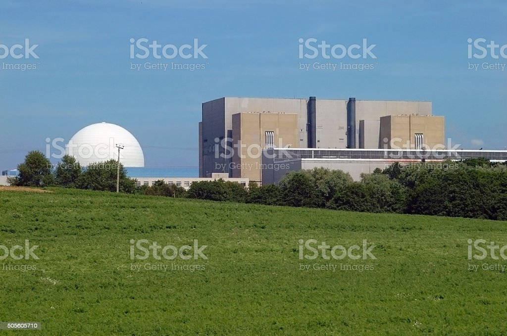 Sizewell Nuclear Power Plant, England stock photo