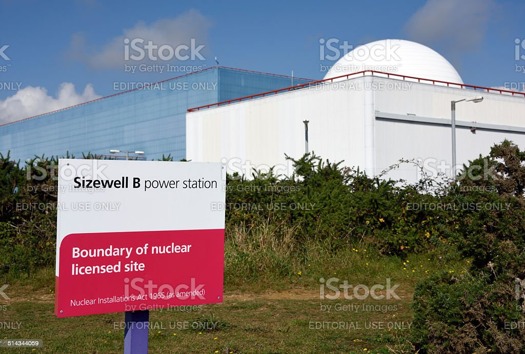 Sizewell Nuclear Power Station stock photo
