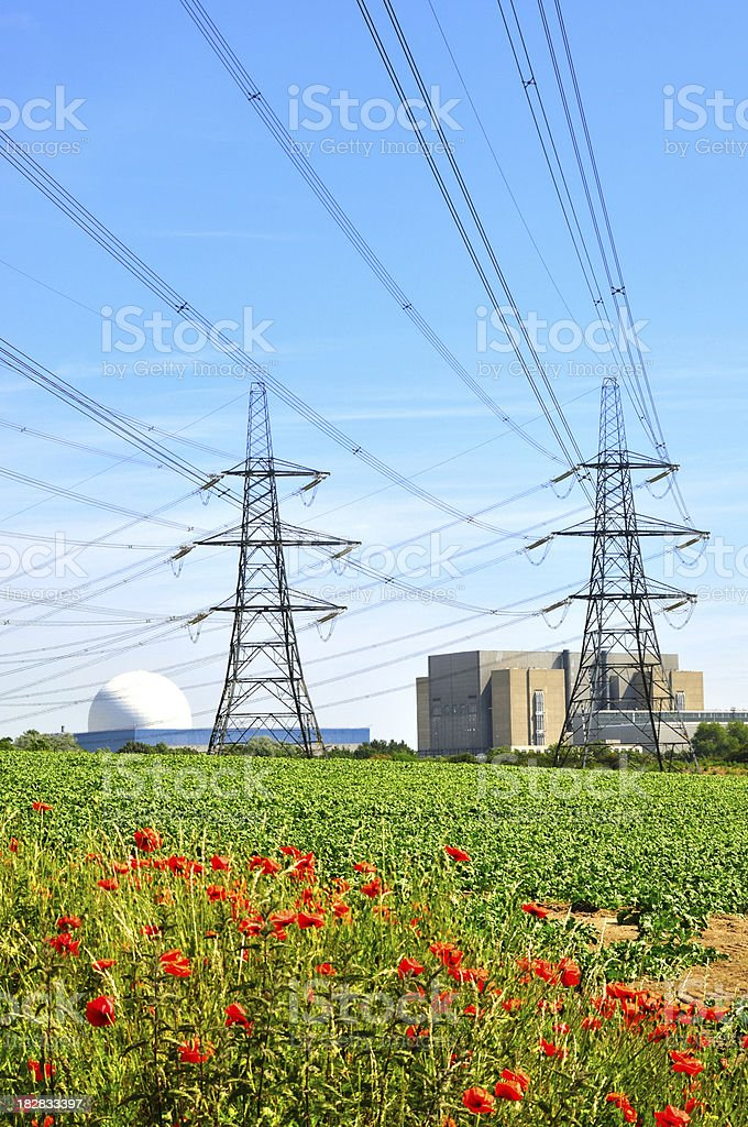 Sizewell pylons royalty-free stock photo