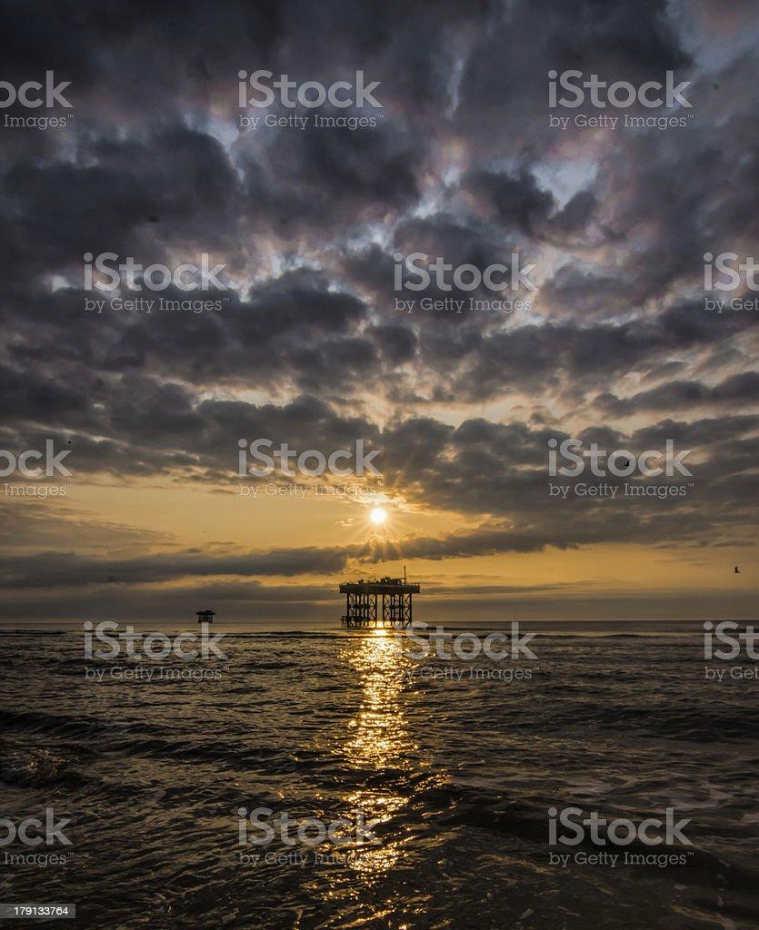 Sizewell sunrise stock photo