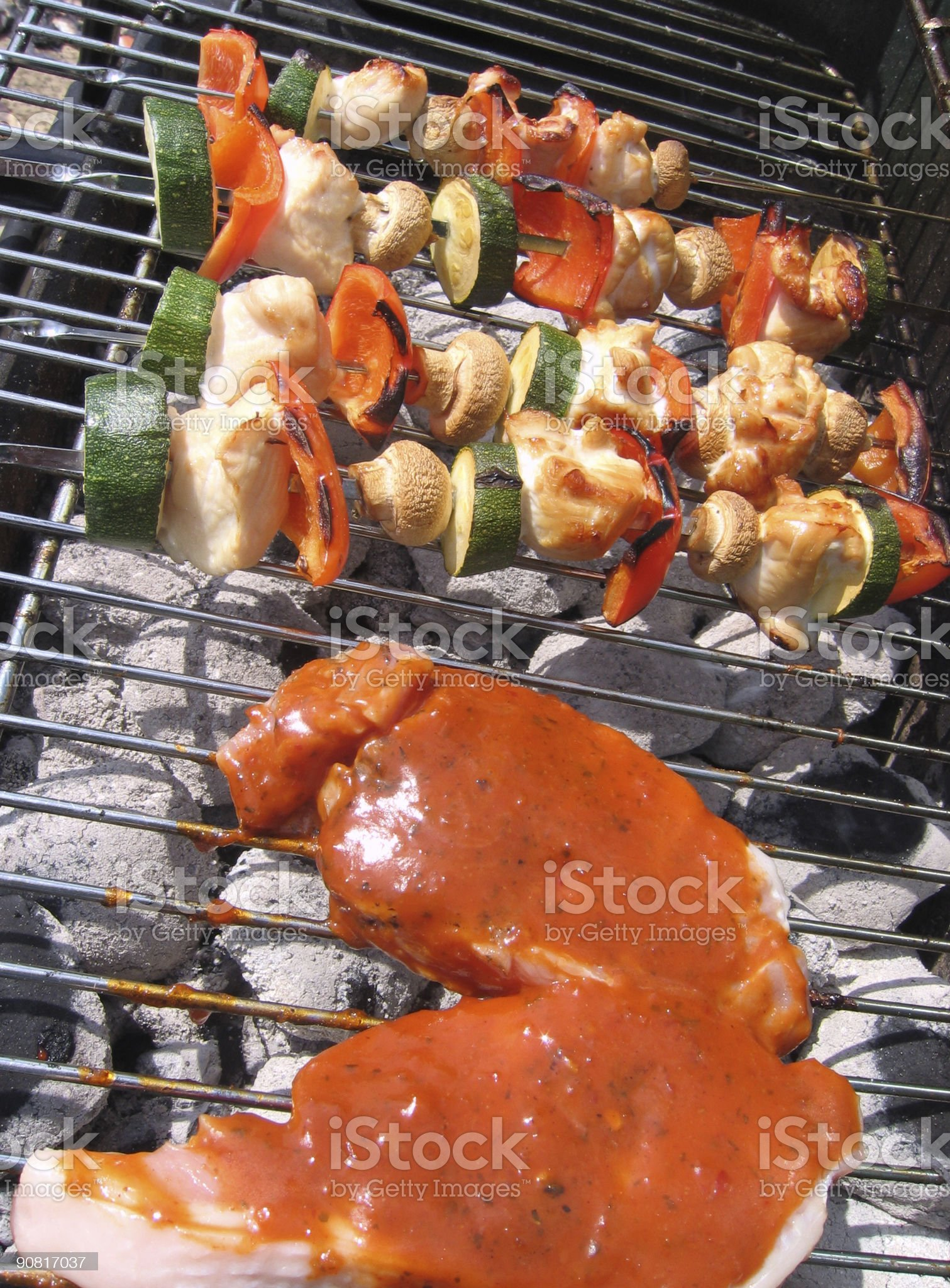 Sizzling Barbecue royalty-free stock photo