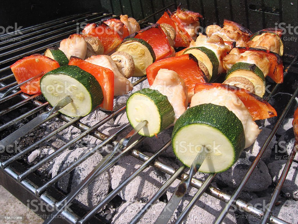 Sizzling Barbecued Kebabs stock photo