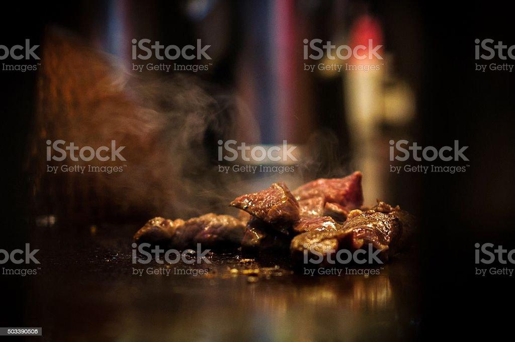 Sizzling Beef Teppanyaki stock photo