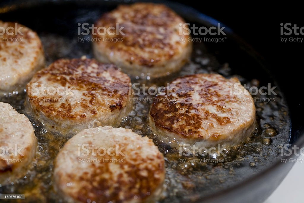 Sizzling Sausages royalty-free stock photo