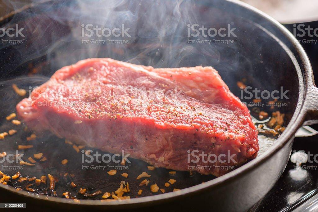 Sizzling Steak stock photo