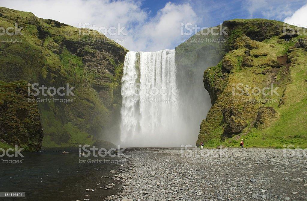 Skógafoss, Iceland royalty-free stock photo