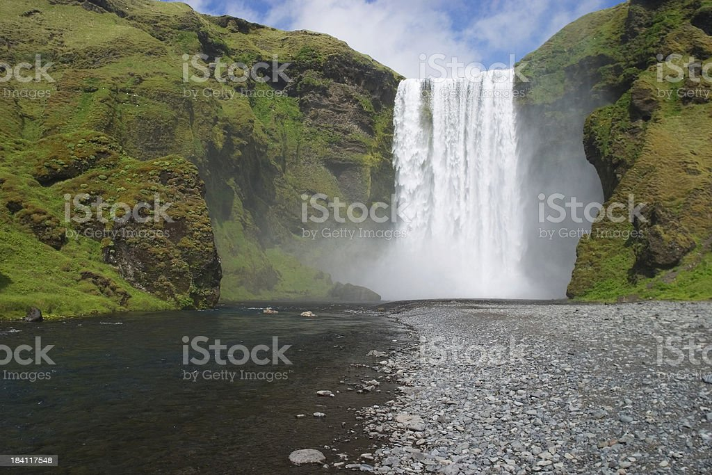 Skógafoss, Iceland royalty-free stock photo