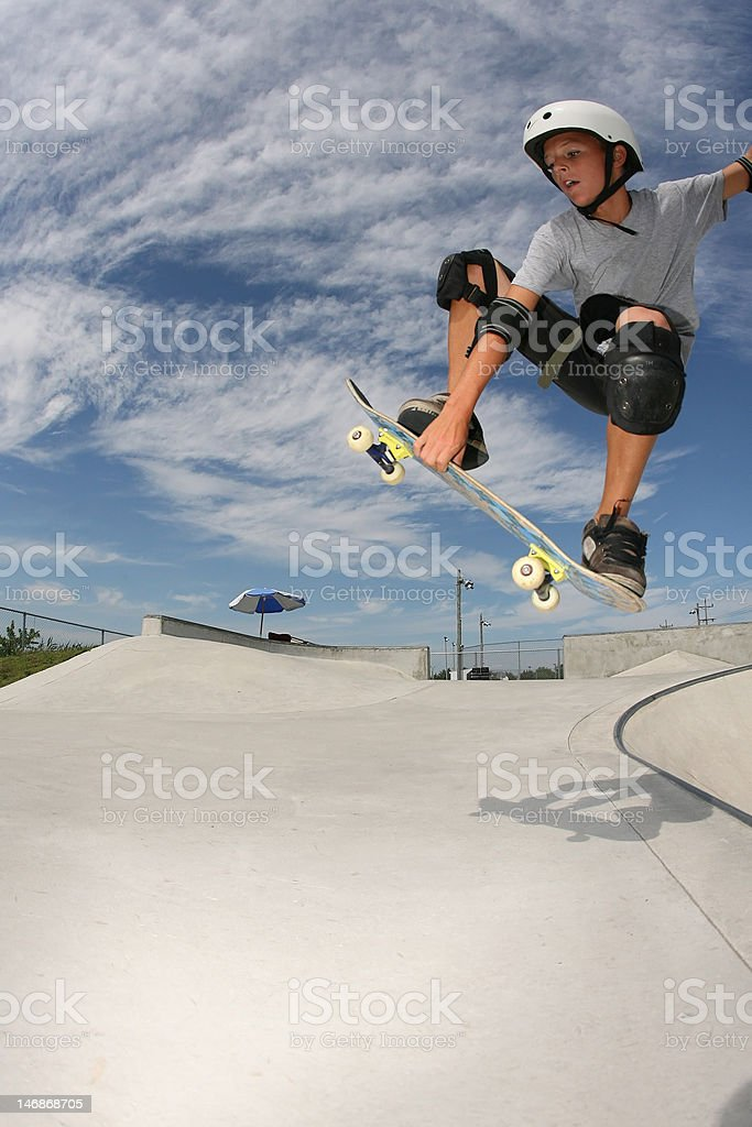 Sk8 Ollie grab stock photo