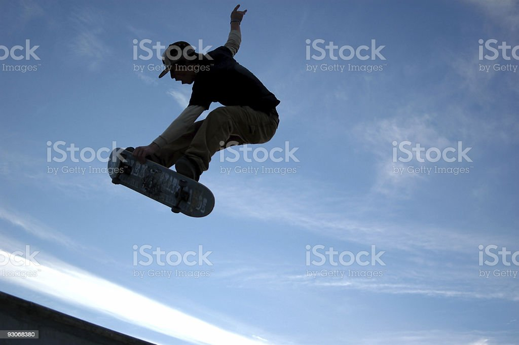 sk8tr in the sky royalty-free stock photo