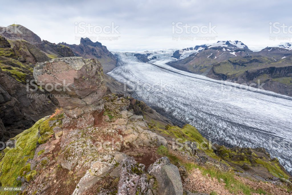 Skaftafell Glacier, Iceland stock photo