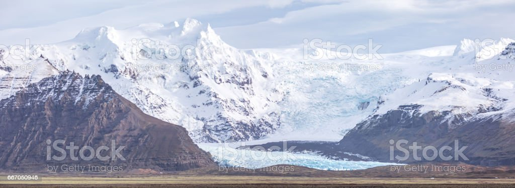 Skaftafell Glacier national park Iceland Panorama stock photo
