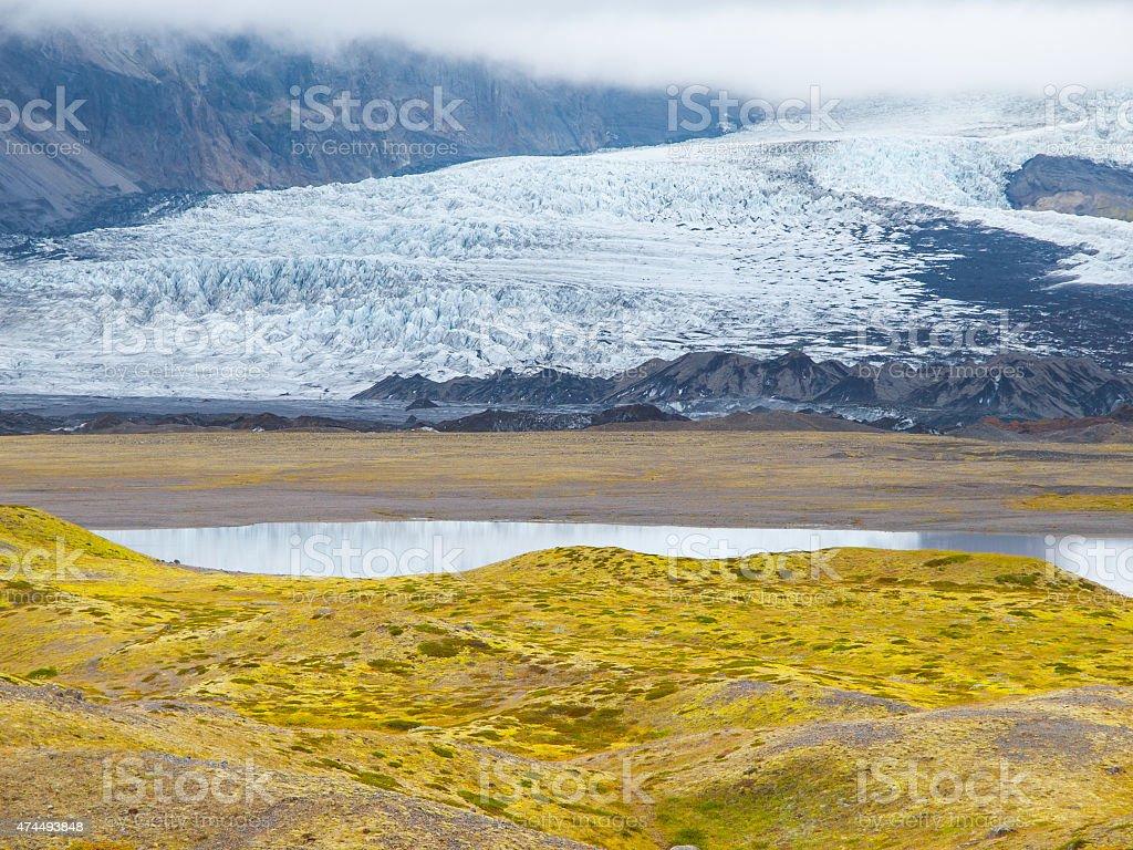 Skaftafell Glacier stock photo