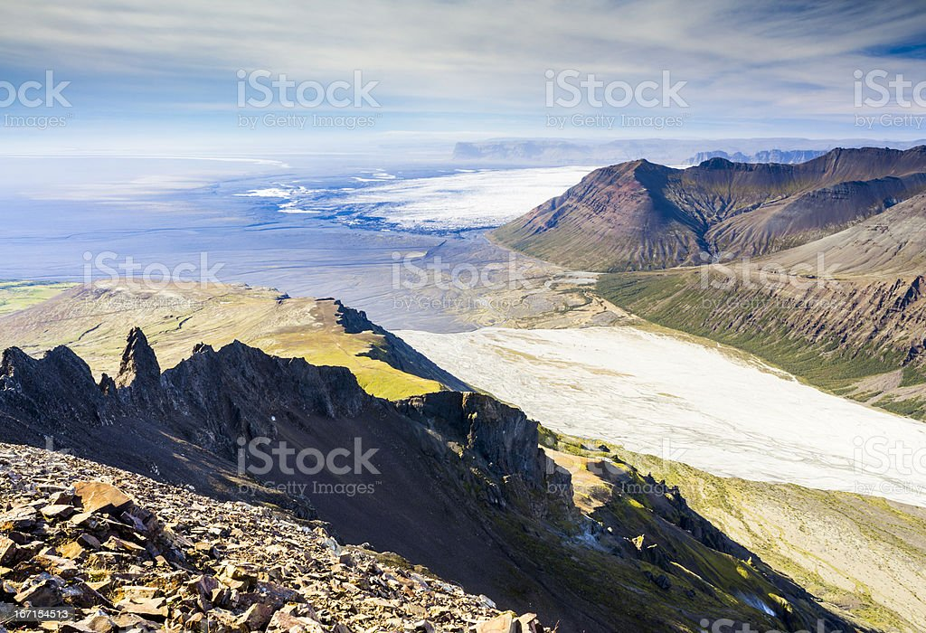 skaftafell national park, iceland stock photo