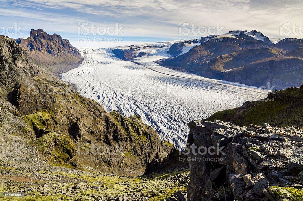 skaftafellsjökull, iceland stock photo