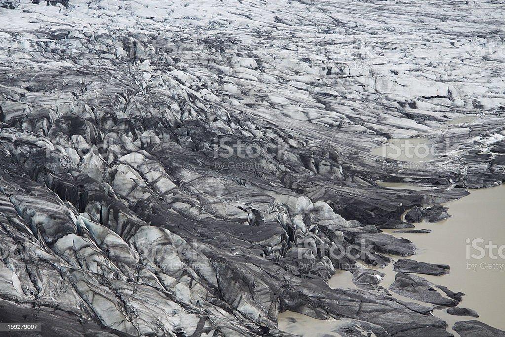 Skaftafellsjokull glacier moraine, Skaftafell National Park, Iceland royalty-free stock photo