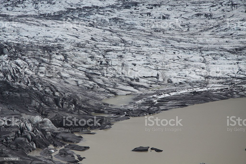 Skaftafellsjokull glacier moraine, Skaftafell National Park, Iceland royalty-free stock photo