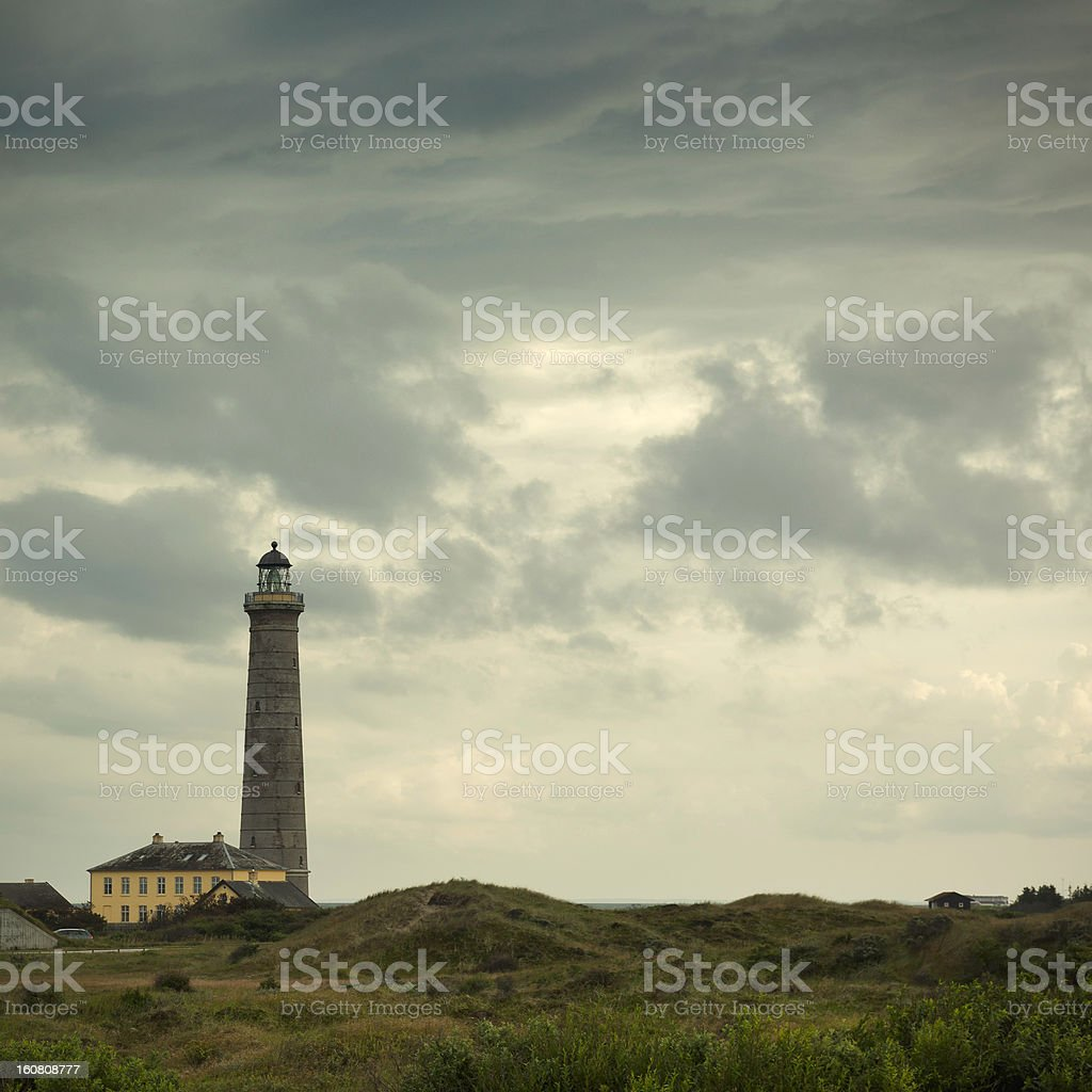 Skagen lighthouse stock photo