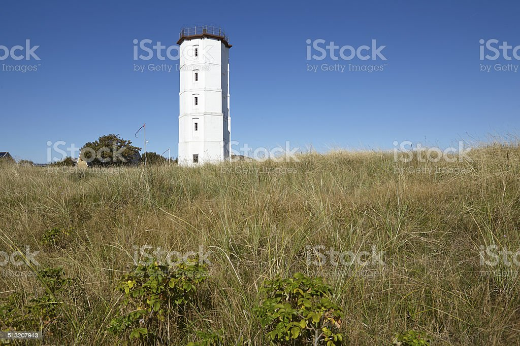 Skagen (Denmark) - Lighthouse White Tower stock photo