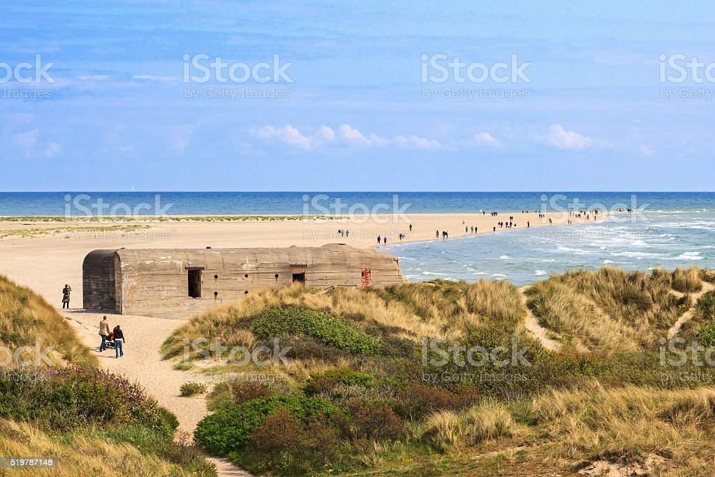 Skagen promontory on the northern point of Denmark stock photo