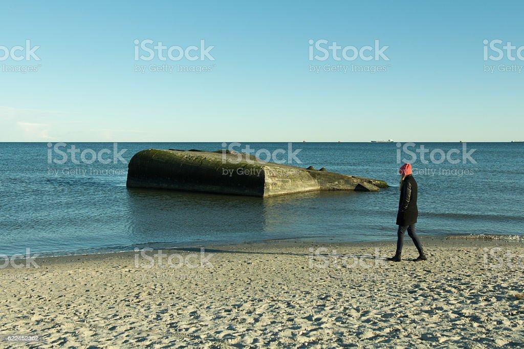 Skagen walk stock photo