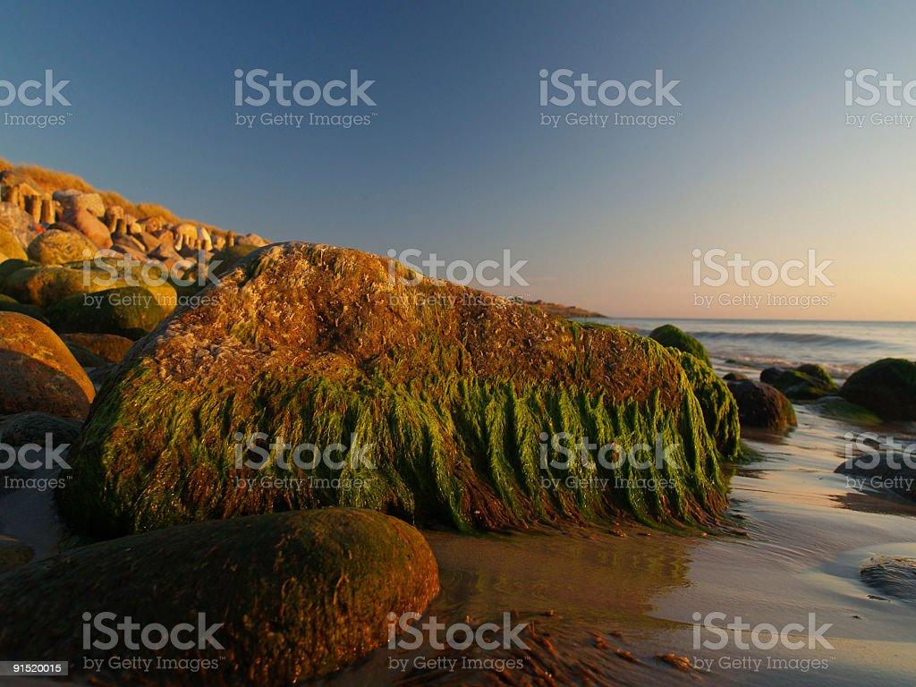 Skagerrak at sunset stock photo