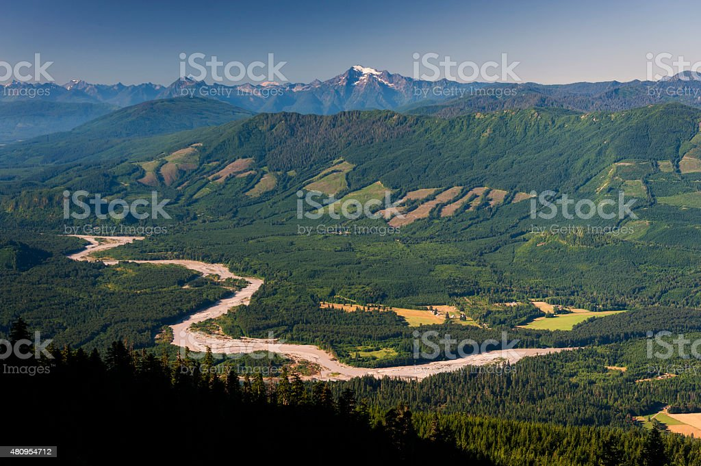 Skagit River Valley stock photo
