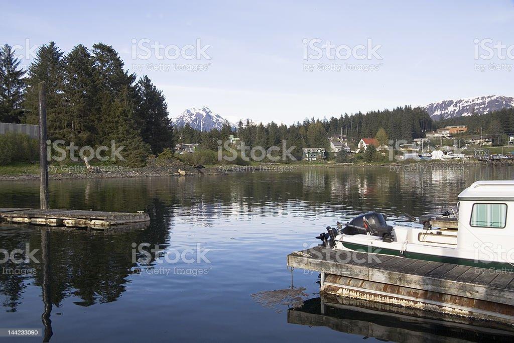 Skagway Alaska City stock photo