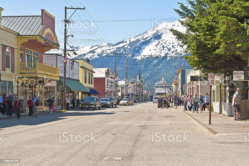 Skagway, Alaska stock photo