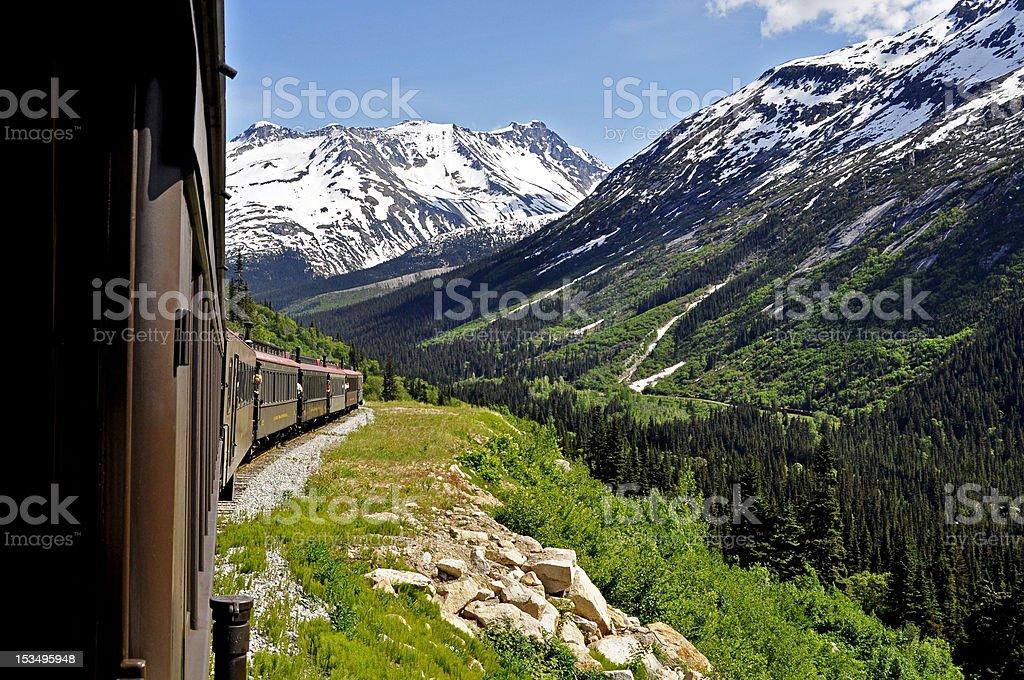 Skagway Alaska Train stock photo