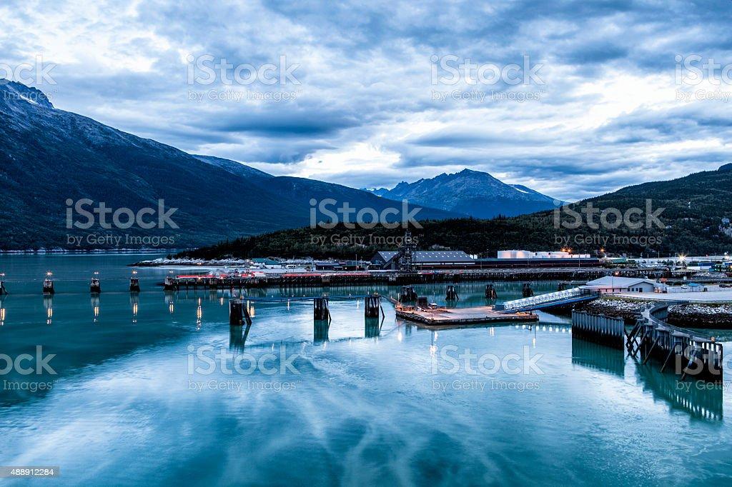 Skagway Harbor at Dawn stock photo