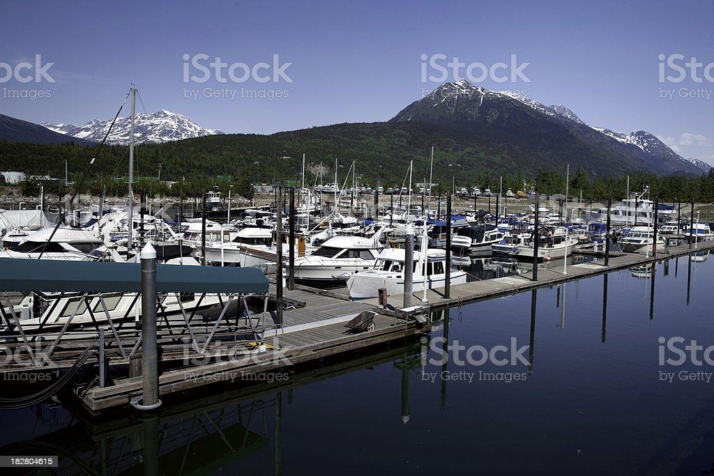 Skagway Marina stock photo