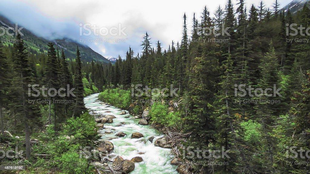 Skagway River stock photo
