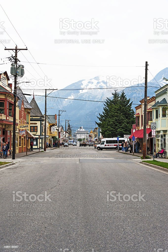 Skagway Town with a View royalty-free stock photo