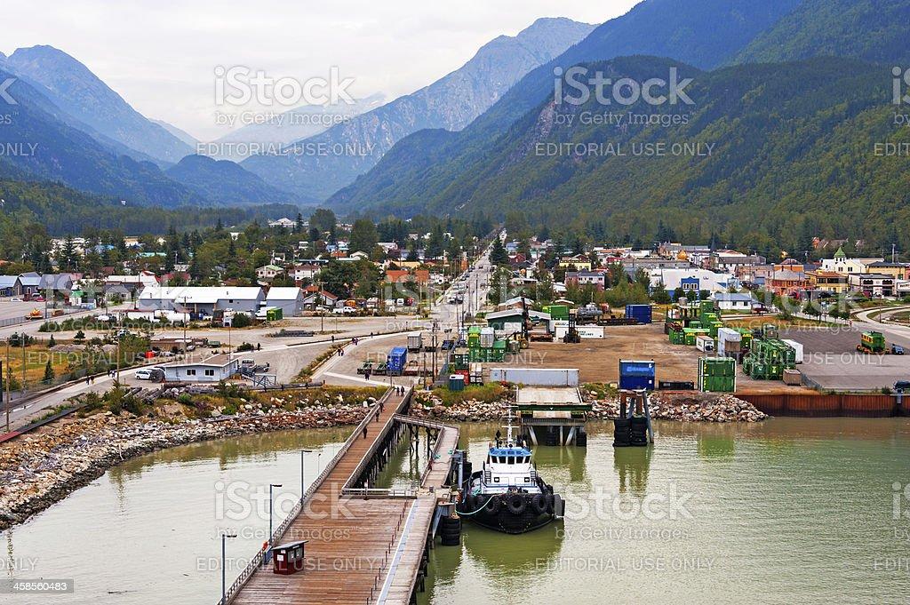 Skagway Views from Cruise Ship stock photo