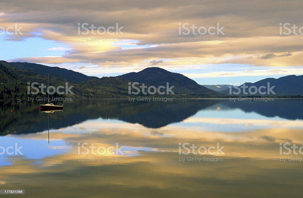 Skaha Lake Morning stock photo