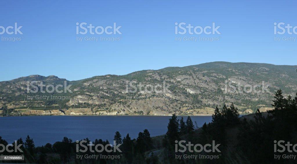 Skaha Lake, Okanagan Valley, British Columbia, Canada in Summer stock photo