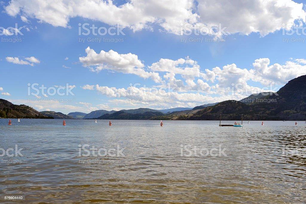 Skaha Lake stock photo