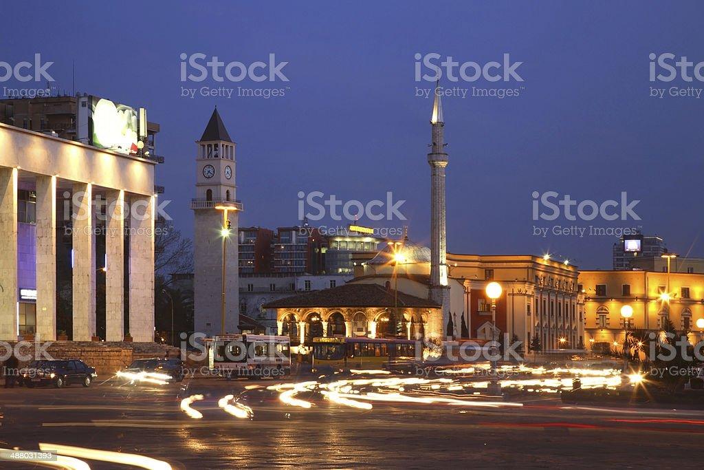 Skanderbeg Square in Tirana. Albania stock photo
