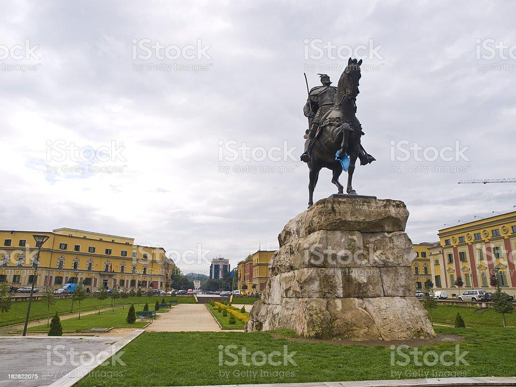 Skanderbeg square stock photo