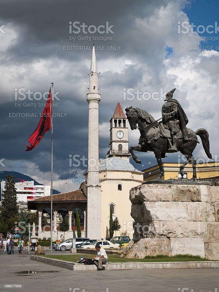 Skanderbeg Square royalty-free stock photo