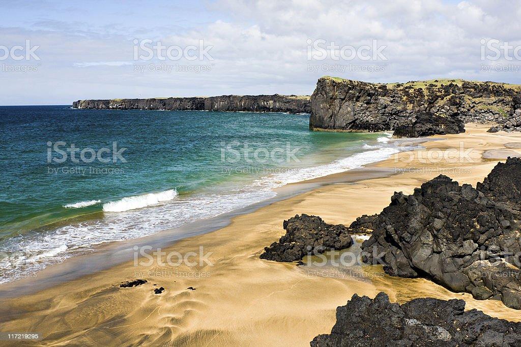 Skarðsvìk Beach, Iceland royalty-free stock photo