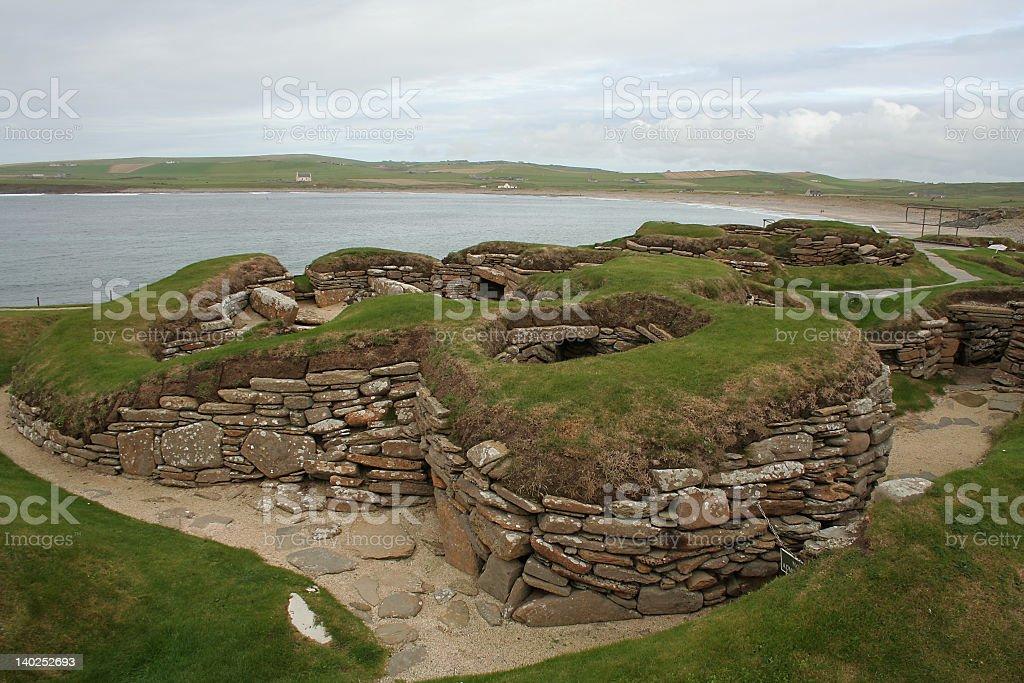 Skara Brae settlement stock photo