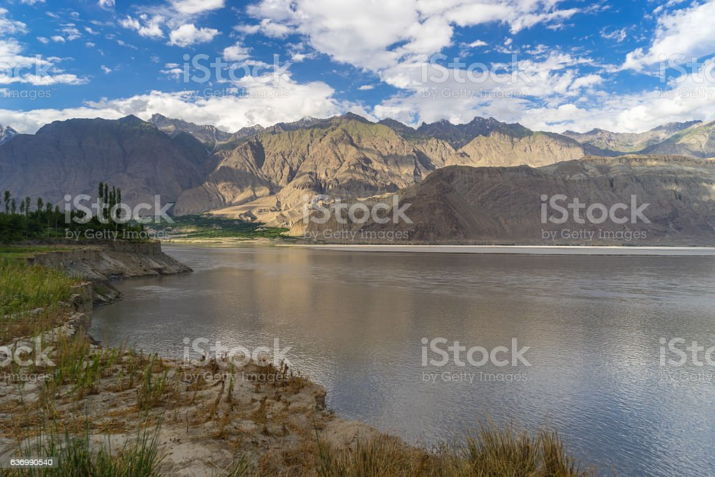 Skardu village landscape in summer, Gilgit, Pakistan stock photo