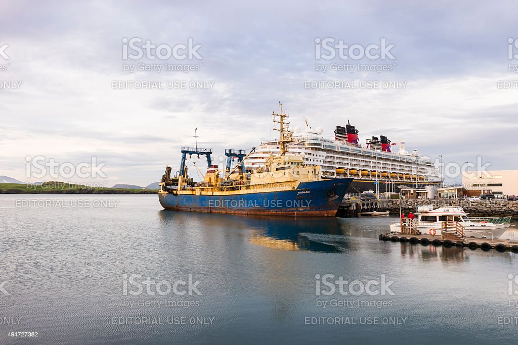 Skarfabakki Cruise Dock, Reykjavik - Iceland stock photo