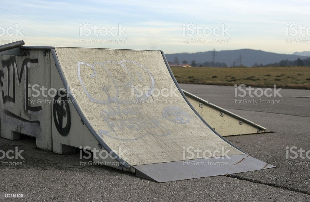 Skate funbox royalty-free stock photo