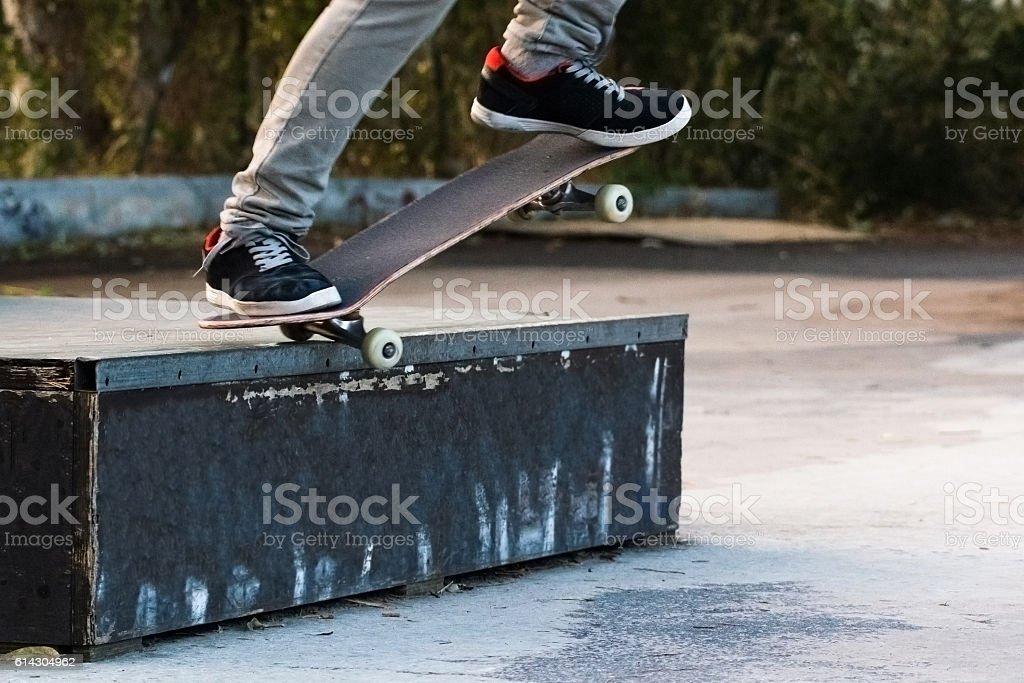 skate grind stock photo