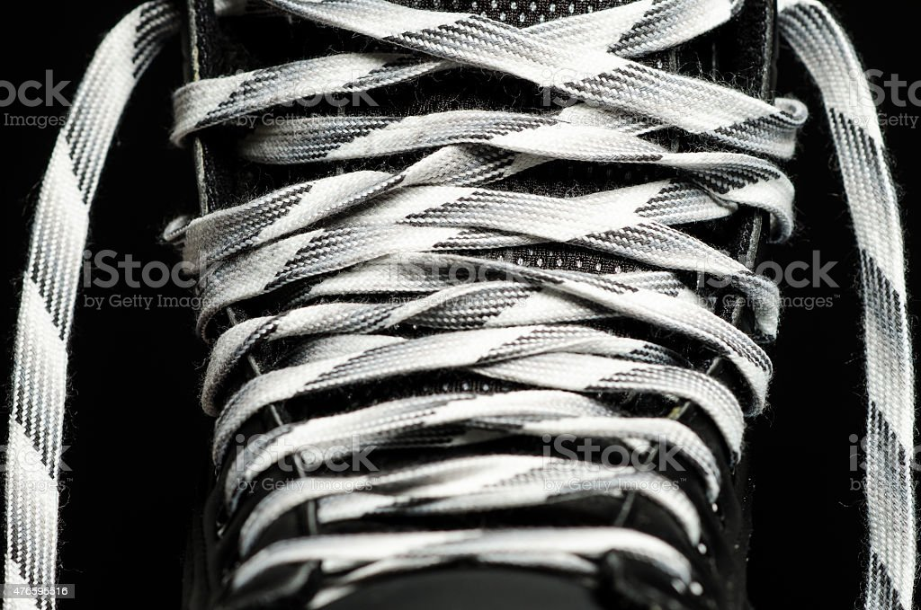 Skate laces stock photo
